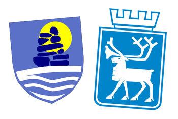 Nuuks og Tromsøs kommunelogoer - vennskapskommuner