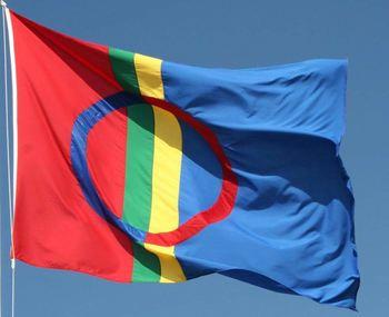 Samisk flagg sameflagg sámi leavga
