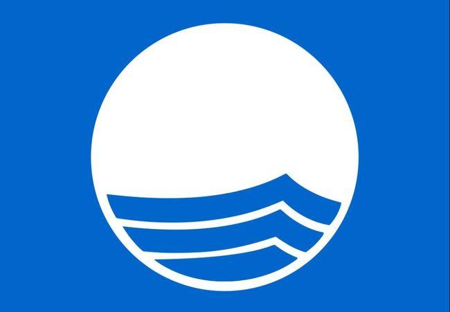 Blått flagg bilde