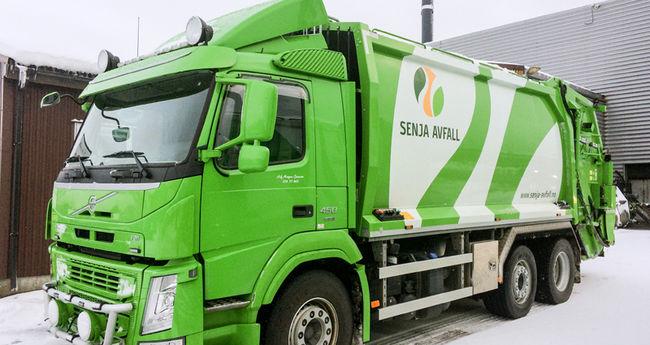 Avfallsbil fra Senja Avfall