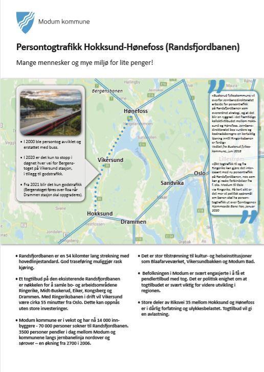 Se Modums Innspill Til Nasjonal Transportplan Modum Kommune