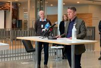 Pressekonferanse om koronasituasjonen den 17 mars på rådhuset