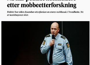 Politiet har siden desember etterforsket en større mobbesak i Trondheim. Nå er konklusjonen klar: Saken oversendes konfliktrådet.Faksimile Adresseavisen.