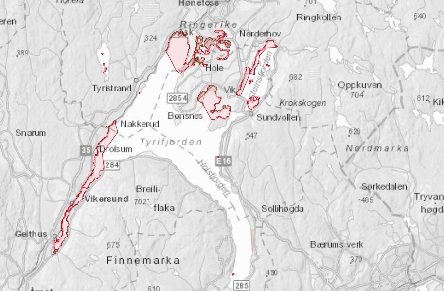 Interaktivt Kart Over Tyrifjorden Modum Kommune
