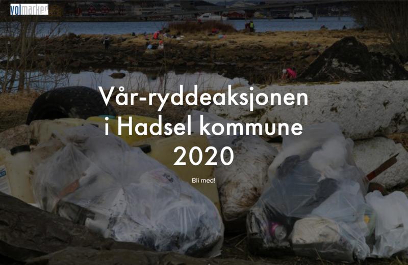Vår-ryddeaksjonen i Hadsel kommune 2020