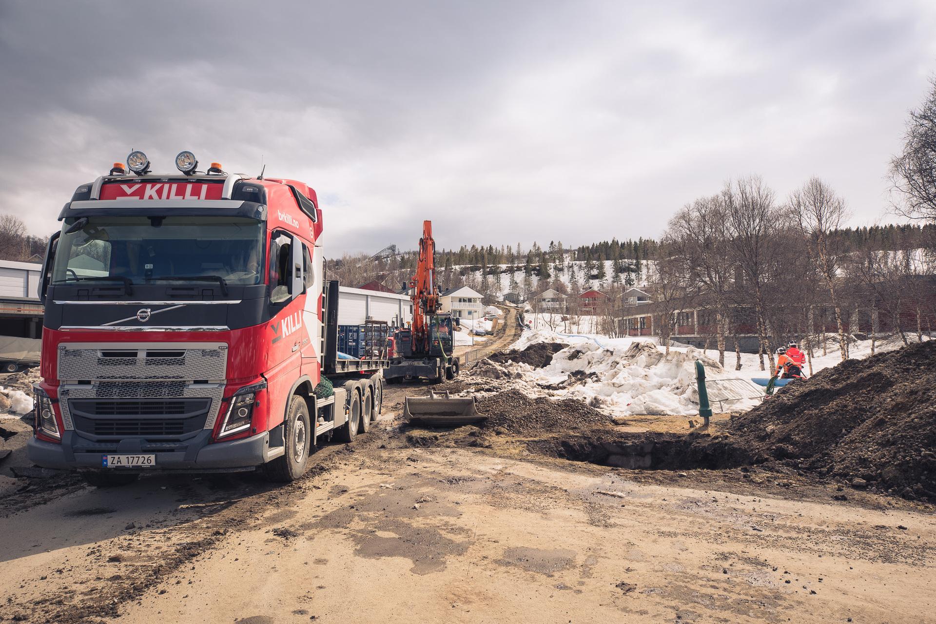 Arbeidene vil foregå i Blåbærhaugen utover høsten og vinteren. Foto: Øivind Arvola