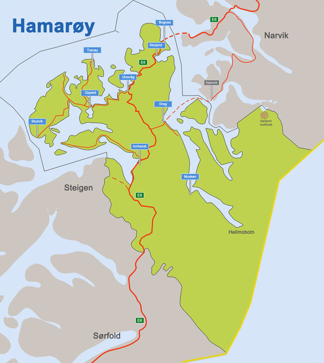 Kart nyeHamarøy_uten grense norsk