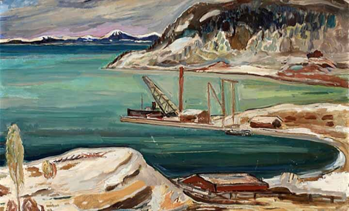 Forseth, Einar_ Norskt hamnmotiv (1)