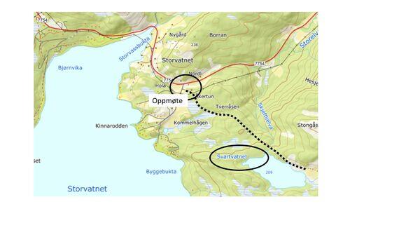 Kart - Svartvatnet Sørvika