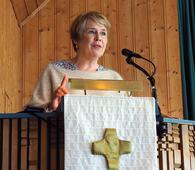 Skuespilleren Birgitte Victoria Svendsen skal lese tekster fra Peer Gynt og Bibelen. Foto: Bjarne Røsjø.