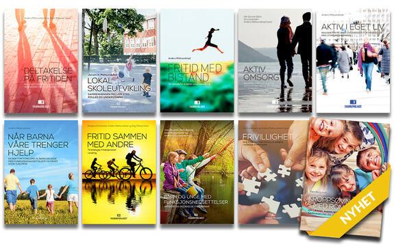 Ingressbilde til bokserien vår som viser alle utgitte bøker