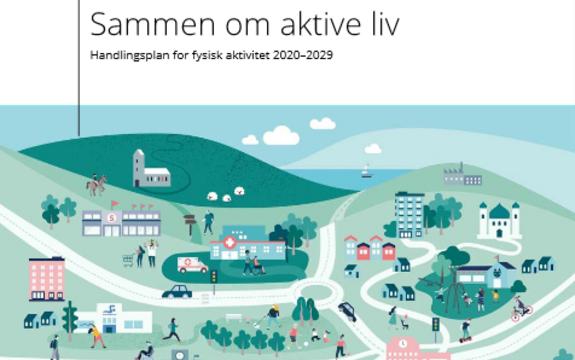 Omslagsbilde for departementenes handlingsplan for fysisk aktivitet 2020-2030