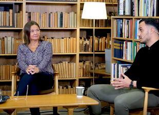 Stadsadvokat Kaia Strandjord  og ungdomskoordinator Sarmed Saify