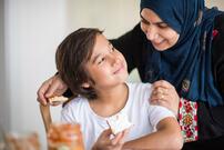arabisk mor og barn