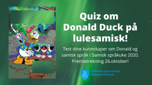 Quiz om Donald Duck på lulesamisk