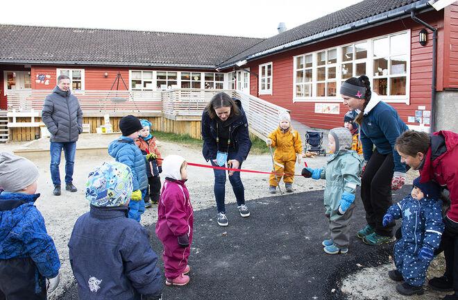 Åpning av sykkelstien i Drag barnehagen. Foto: Svetlana Gracheva