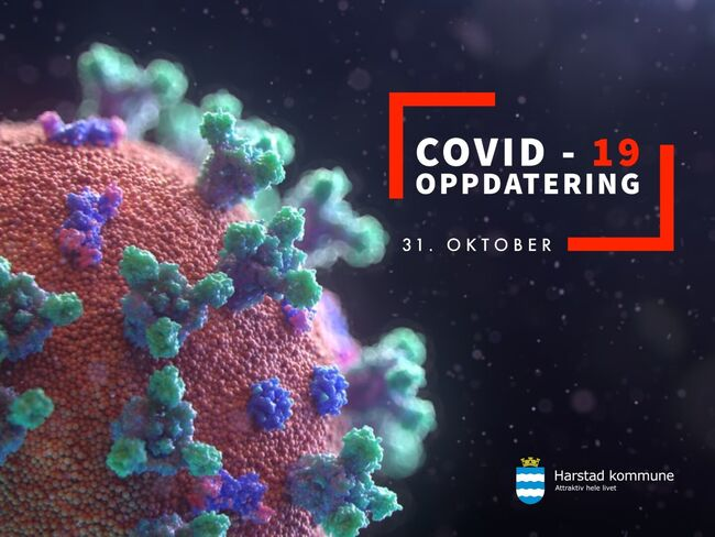 COVID-19 smitte  31okt (Stor)