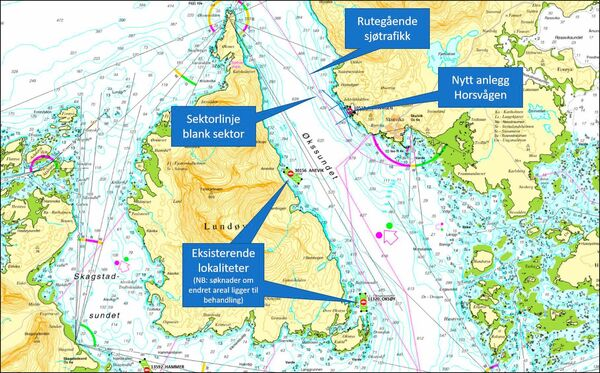 Horsvågen sjøkart oversikt