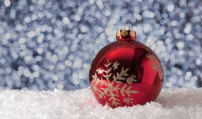 Julekule, snø
