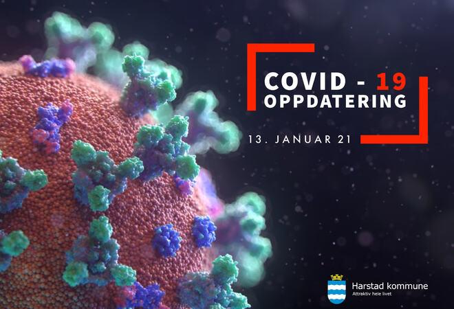 COVID-19 smitte 130121