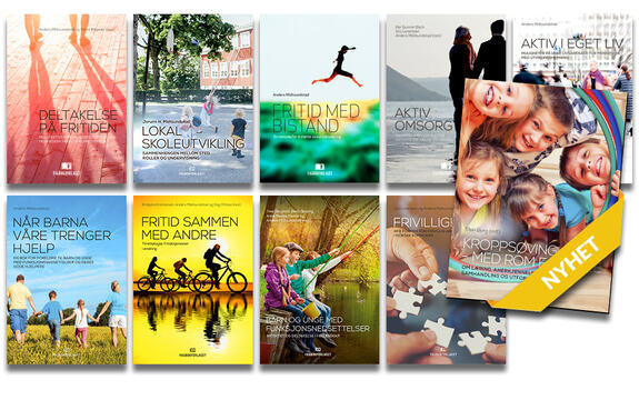 Bilde som viser alle utgivelser i Kompetansetjenestens bokserie