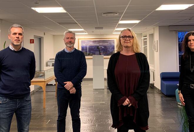 Fv. Espen Ekse-Gundersen, Arnt Jørgen Eidsaa, Merete Rimstad og Anette Sylta Sandberg