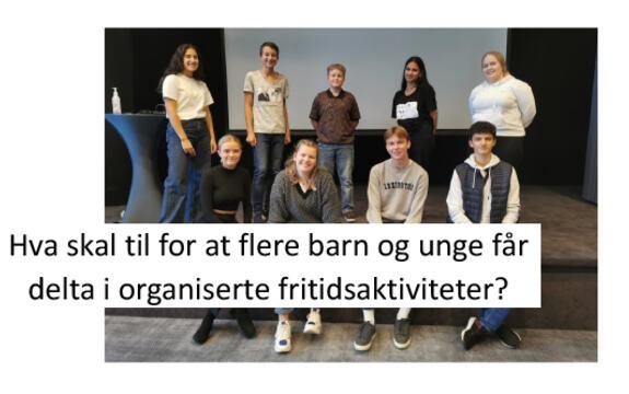 Ingressbilde til artikkel om Ungdomspanelets innspill til utforming av en nasjonal fritidskortordning. Foto: Miriam Pulsson Kramer