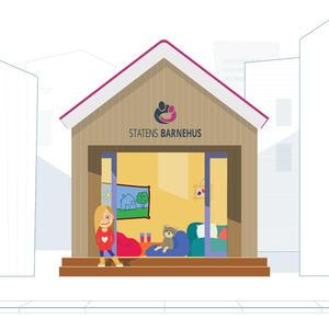 Hva er Statens Barnehus? Illustrasjon: Yizhak Itzchak Opphavsrett: TkØ