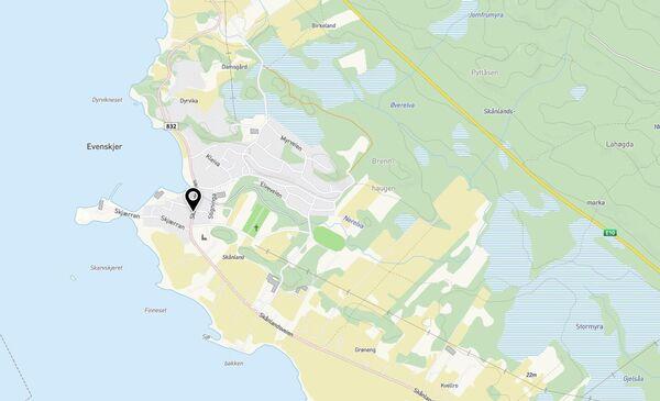 Kartutsnitt fra kommunekart