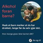 Alkohol foran barna? Husk at barn merker at du har drukket, lenge før du selv gjør det.