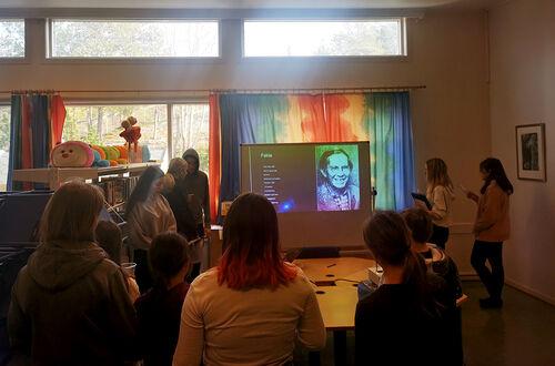 Presentasjon om Kaare Espolin Johnsen. Foto: privat