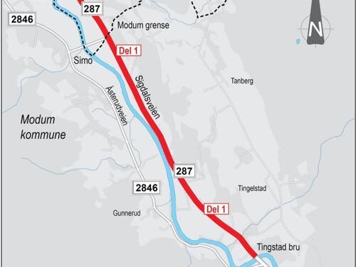 Oversiktskart Sigdalsveien