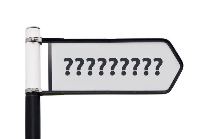 Question mark signpost