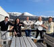 Teamet som skal jobbe med prosjektet: fra venstre: Gaute Gjerløw Remen (Nettrakett), Heidi Torkildson Ryste (Hadsel kommune), Elise Teigen (Hadsel kommune), Line Suhr Johansen (Nettrakett) og Atle Nielsen (Hadsel kommune). Foto: Tuva Rørvik Nilsen