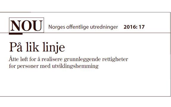 Ingressbilde til artikkel om NOU 2016-17 På lik linje