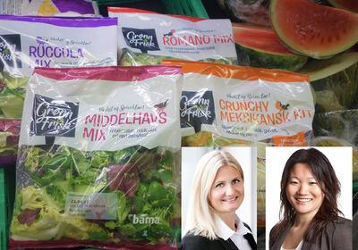 Bama Industri AS på Lierstranda har vokst kraftig de siste årene – blant annet på grunn av økning i etterspørselen etter disse varene – fiks ferdige salater, ofte med råvarer rett fra lokale produsenter i Lier.