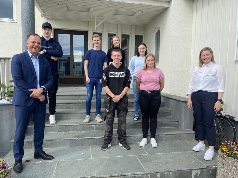 Besøk av fylkesråd Tomas Norvoll