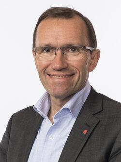 Espen Barth Eide etterlot ingen tvil: Hans parti er «kjempeglade» i nasjonalparken i Østmarka. Foto: Stortinget.