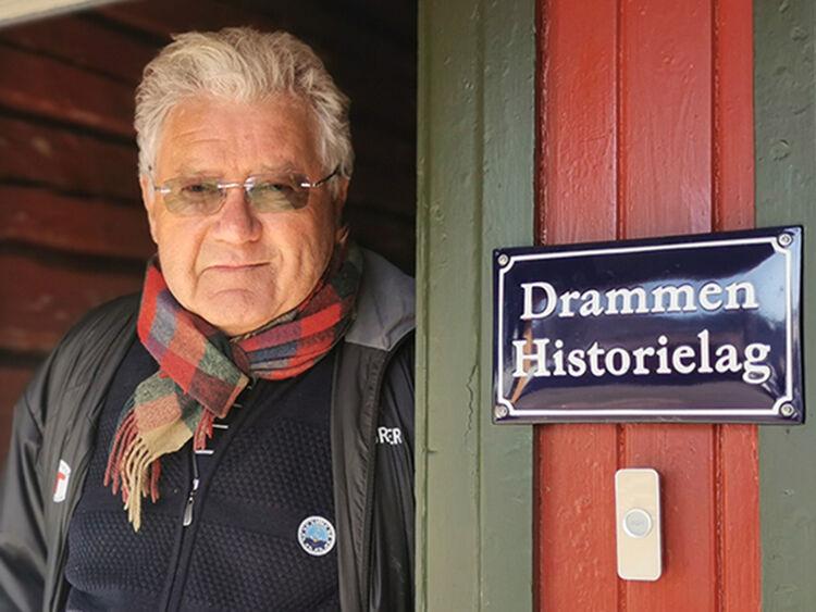 Svein Stubberud er også aktiv i Drammen Historielag.