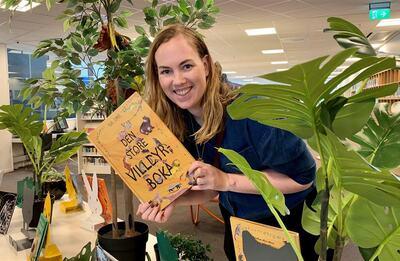 Tonje Kristensen på besøk på Drammensbiblioteket FOTO: ANDRÉ STRAND, VIKEN FYLKESKOMMUNE