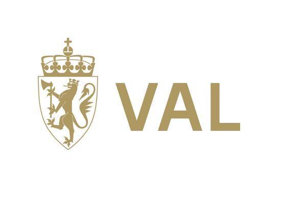 Val logo nynorsk gull