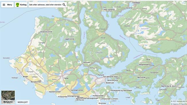 Enkelt kart over noen av stedene det er fint å bade.