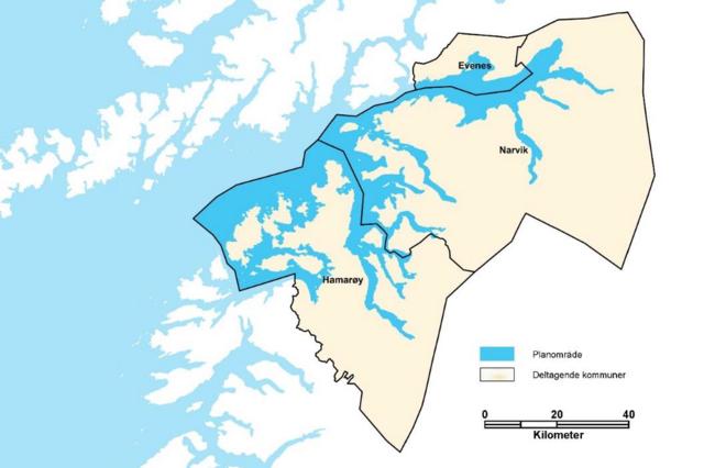 Interkommunal kystsoneplan for Evenes, Narvik og Hamarøy