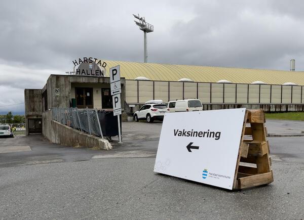 Vaksinering Harstadhallen