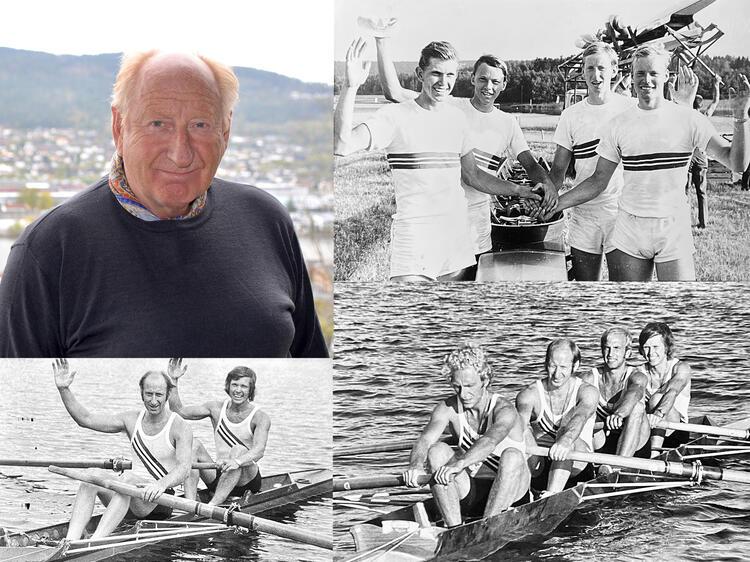Arne Bergodd i dag (øverst til venstre) foto: Johan Remmen (2021) Bilde 2 (til høyre øverst): «Barnefireren» med Rolf Andreassen, Tor Ole Brekke, Arne Bergodd og Ragnar Løken (1971) Bilde 3 (til venstre nederst): Arne Bergodd og Rolf Andreassen (1976) Bilde 4 (til høyre nederst): Ole Nafstad, Arne Bergodd, Finn Tveter og Rolf Andreassen (1976)