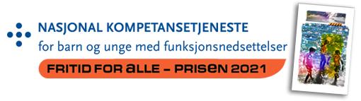 Logoen til fritid for alle-prisen 2021 og bilde av prisen
