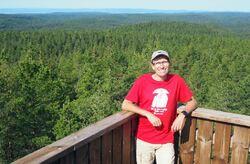 Nasjonalpark i Østmarka, nå! Det skrev Espen Barth Eide på Facebook etter at han hadde vært på Kjerringhøgda søndag 29. august.