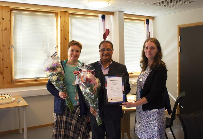 Oppeid Handel Spar vant den regionale Mangfoldsprisen for Nordland. Foto: Svetlana Gracheva