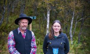 Landstrykerstien Britt Kristoffersen og Roald Hansen Foto Kjell Fredriksen