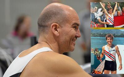 Fredrik Bekken (48) holder fortsatt formen. Bildene til høyre er fra da han hadde suksess i junior-VM i sesongene 1992 og 1993.